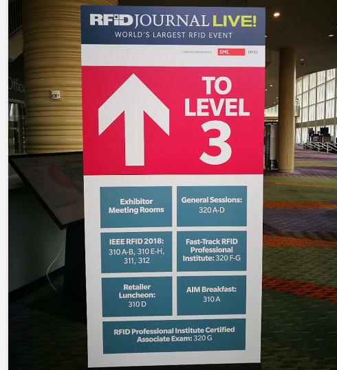 亮相 RFID Journal Live!2018 美国展会